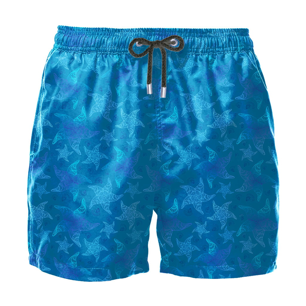 Short Masculino Estampado Estrela do Mar Praiar
