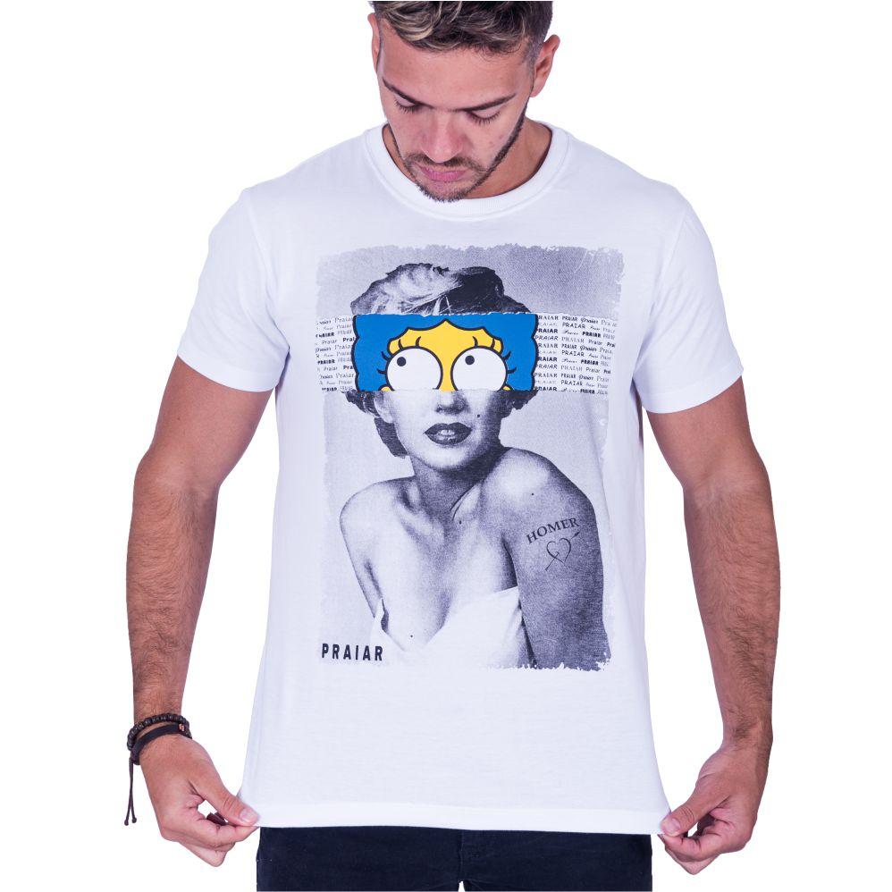 Camiseta Estampada Marge Monroe Praiar