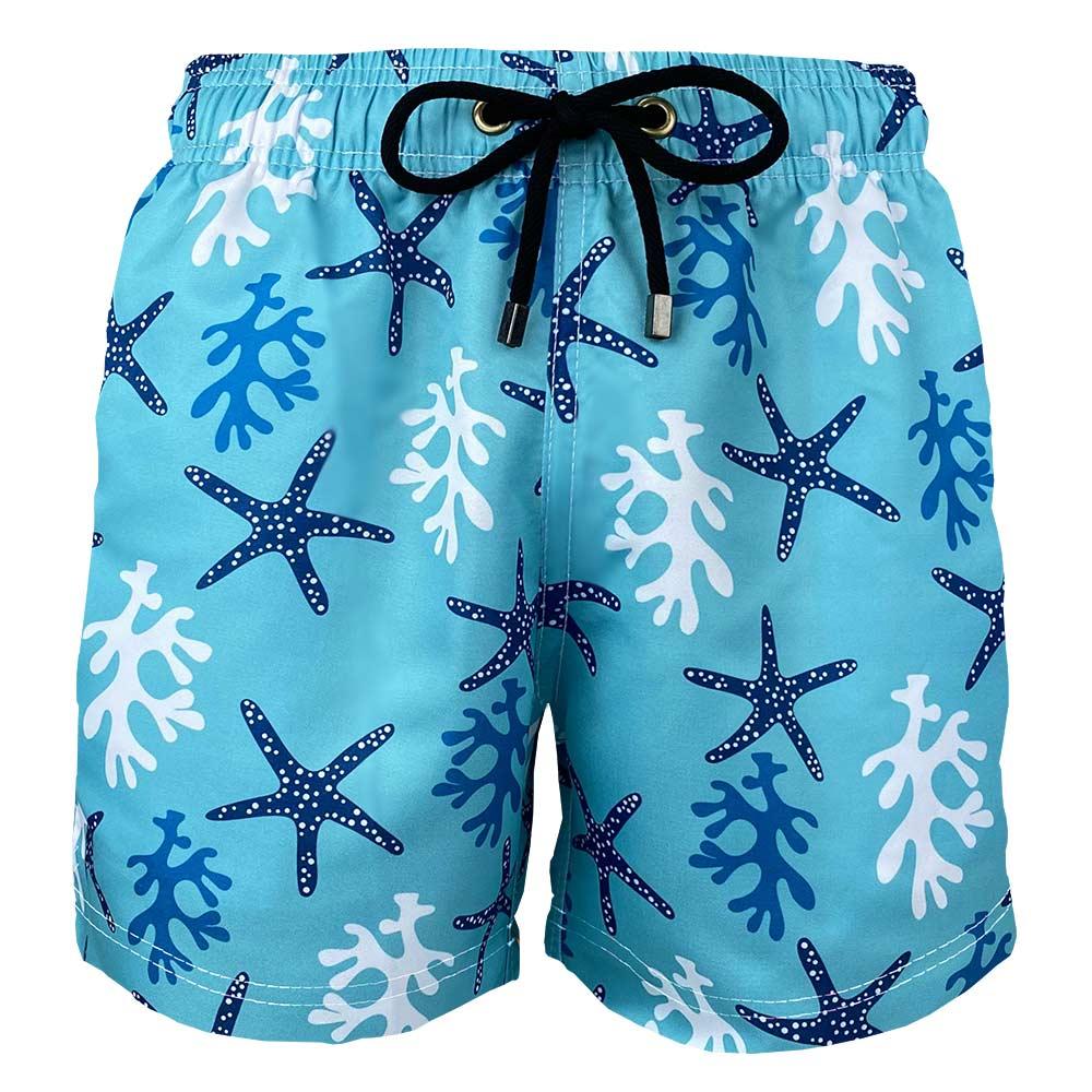 Short Masculino Estampado Estrela do Mar Azul Praiar