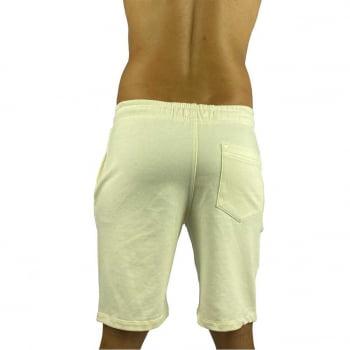 Bermuda Moletom Masculina Premium Off White Praiar