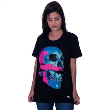 Camiseta Estampada Caveira 3D Praiar