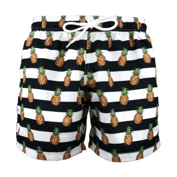 Kit 3 Shorts Masculinos Estampados Praiar