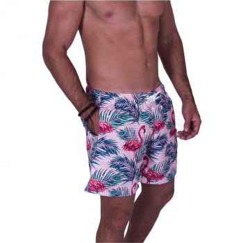 Short Masculino Estampado Flamingo Praiar