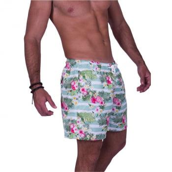 Short Masculino Estampado Floral Praiar