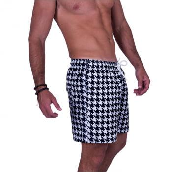 Short Masculino Estampado Geometrico Praiar